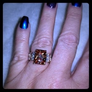 Beautiful Smoky Topaz Sterling Silver Ring